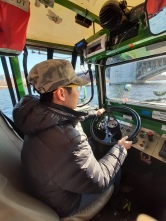 Paul driving the Duck Boat